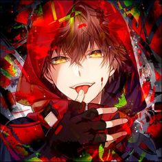 Don't run ( Yandere twins x skeleton reader ) - 13 - He or Us ? Anime Sexy, Hot Anime Boy, Dark Anime, Anime Boys, Manga Sexy, Cool Anime Guys, Red Hair Anime Guy, Manga Cute, Demon Manga