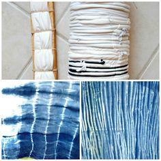 Supplies: Jacquard Indigo Dye kit here   Organic Cotton Plus fabric in natural         A little different than tie dye, Shibori is a Japa...