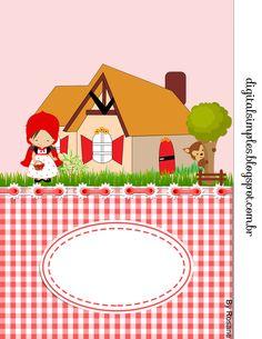 Como algumas meninas pediram por email que eu fizesse um Kit de personalizados da Chapeuzinho Vermelho, então aqui está o Kit....