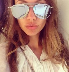 Mirrored Aviator Glasses