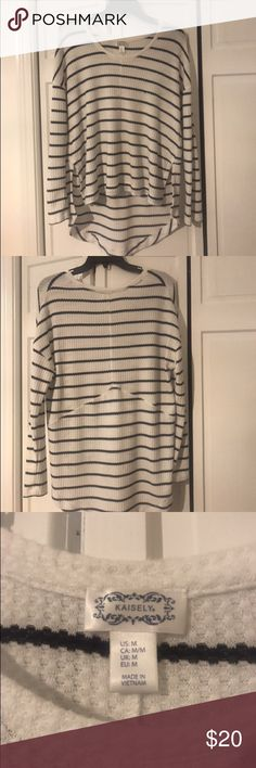 Striped long sleeve shirt/sweater Perfect condition, beautiful colors for all seasons. Goes with every outfit because it's neutral colors kaisely Tops