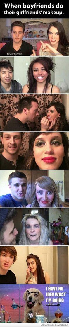 When Boyfriends Do Their Girlfriends Makeup