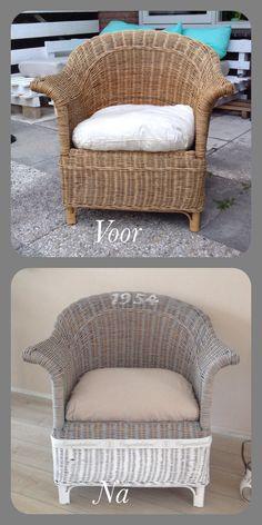 Dit is een leuk idee om te doen!!!!(De stoel opgeknapt met home deco verf van action. Het is een mooie landelijke stoel geworden).