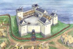 St Andrews castle Scotland / Brian Lee Illustration : Photo