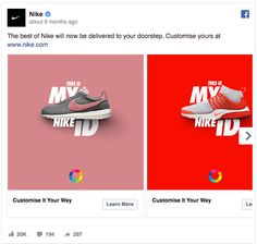 Nike's Facebook Ad Is High on Contrast - Tap the link to shop on our official online store! You can also join our affiliate and/or rewards programs for FRE