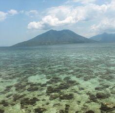 Ternate island from sebanjar beach
