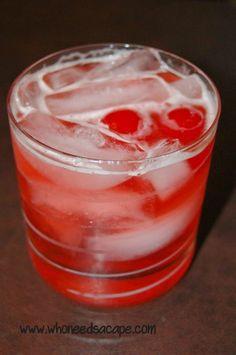 Sweet Manhattan Fizz Cocktail