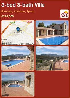 3-bed 3-bath Villa in Benissa, Alicante, Spain ►€798,000 #PropertyForSaleInSpain