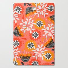 Our cutting boards feature bright, glossy designs that transform a kitchen essential into a functional style piece. Prep your food on the wood side, use the design side as a serving board and hang it up as kitchen wall art. Available in round or rectangle options.  #cook #cooking #chef #food #foody #society6 @society6