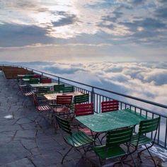 Restaurant at the Pilatus Hotel in Switzerland