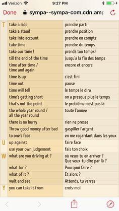 English - French