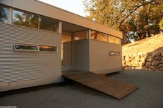 If you're in the Napa County and have an interest in modern prefab, an LV Home by Missouri-based Rocio Romero will be featured in open house public tours on September 22, 2012 (register here). So you know, the LV model comes as a fabricated kit of parts -- post and beam, exterior wall panels, faux…