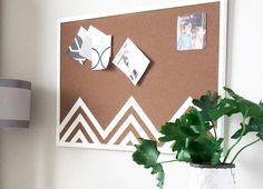 DIY Cork Board Triangle