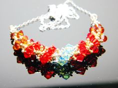 The Avengers Iron Man Inspired Crystal Necklace by WhimsyBeading, $35.00