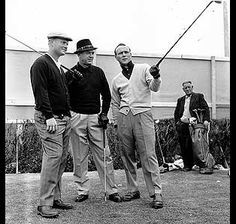 Jack Nicklaus, Sam Snead and Arnold Palmer