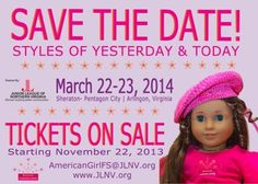 """JLNV Presents the: """"American Girl Fashion Show."""" Tickets go on sale Friday, November 22 in our e-Store and will also be available for purchase this weekend at The Enchanted Forest. There are plenty of fun packages to choose from. Keep up with all the latest by following us on Facebook: /AGFSJLNV or on Twitter with #AGFSJLNV."""