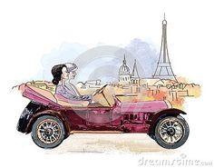 vector-painting-maite-camino-paris-beginning-20th-century Paris, Illustration, Painting, Montmartre Paris, Painting Art, Paris France, Paintings, Illustrations, Painted Canvas