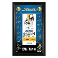 Commemorate the GSW and their historic victory with the NBA Golden State Warriors 2018 NBA Finals Champ Signature Ticket Mint. This collectible features a commemorative ticket from NBA Finals along with the replica signatures of the team players. Golden State Warriors 2018, Nba Finals 2018, 2018 Nba Champions, Warrior Spirit, Draymond Green, Mint, The Incredibles, Ticket, Graphics