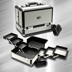 Zancases Elite Silver Makeup Case