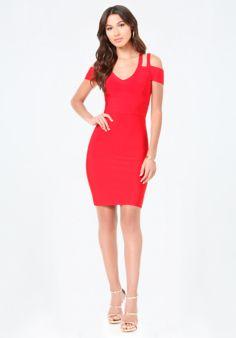 Half Sleeve Strappy Dress