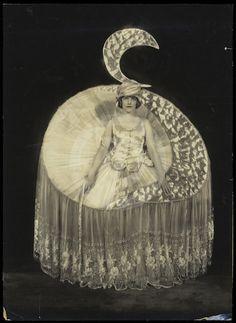 "1920 Alfred Cheney Johnston portrait of Elizabeth (Betty) Morton as she appeared in the Ziegfeld Follies that year as ""Moonlight..."