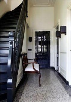 trap zwart maken bij granito vloer
