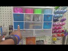 DIY Dollar Tree Craft Storage Shelf Cheap Storage hack with foam board by The Baby's Booty - YouTube