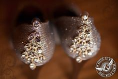 Glam earrings for the bride at Gabriel Springs Event Center in Georgetown, Texas.