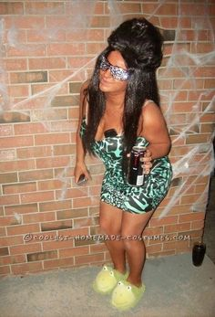 Last Minute Homemade Snooki Costume