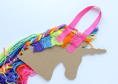 Hair Accessories Holder, Diy Home Accessories, String Crafts, Paper Crafts, Diy Hair Bow Holder, Bow Holders, Mobiles, Homemade Stuffed Animals, Unicorn Hair