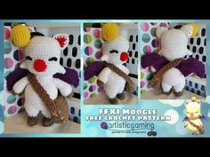 Make your own Final Fantasy 11 Moogle! Free Crochet, Knit Crochet, Crochet Hats, Moogle Final Fantasy, Make Your Own, Make It Yourself, Crochet Monsters, Crochet Patterns, Crochet Ideas