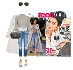 """Teen Vogue Kylie Jenner in denim and louboutin and diamonds."" by misnik ❤ liked on Polyvore featuring Christian Louboutin, Bottega Veneta, J Brand, Alexander McQueen, Proenza Schouler, Ray-Ban, Bloomingdale's, McQueen, WhatToWear and HowToWear"