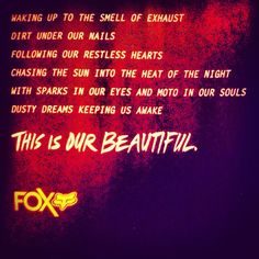 dirty beautiful ♥ love the company I work!! #FoxRacing