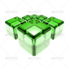 Green Glass Cubes Isolated Over White Background ...  3-dimensional, 3d, box, bright, case, color, concept, crystal, cube, glass, green, isolated, light, object, reflection, render, rotated, shade, shiny, spatial, three, three-dimensional, transparent, white