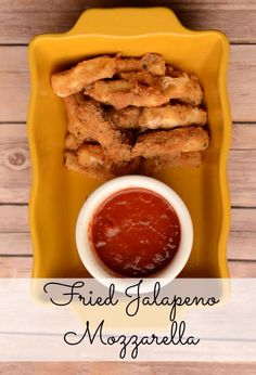 Fried Jalapeno Mozzarella - making homemade fried mozzarella is a snap with this recipe!