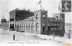 Le casino Taj Mahal, 1914 1918, Archive, Building, Travel, Vintage, Basque Country, Antique Post Cards, The Beach
