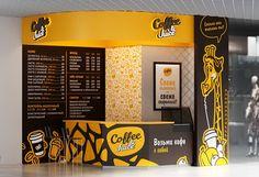 Coffee&Juice on Behance Kiosk Design, Cafe Design, Store Design, Coffee Shop Interior Design, Coffee Shop Design, Juice Bar Interior, Interior Design And Technology, Restaurant Exterior Design, Food Court Design