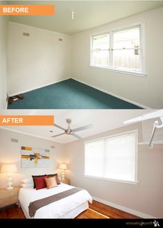 Bedroom Renovation Before And After renovated lounge - before and after. from hotspace consultants