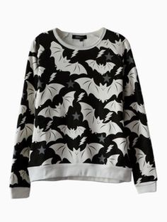 Shop Cute Bat Print Sweatshirt from choies.com .Free shipping Worldwide.