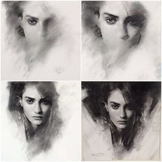 Charcoal stages. #art #charcoal