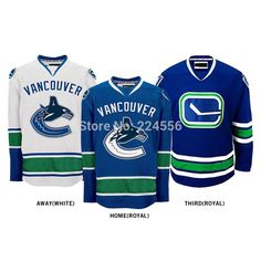 Find More Sports Jerseys Information about Customize Vancouver Canucks jersey cheap nhl  hockley jersey Home/Away/Alternate Embroidery Logo Sew on Any Name & NO. YS 6XL,High Quality jersey xl,China embroidery news Suppliers, Cheap embroidery 3d from Jerseys World's store on Aliexpress.com
