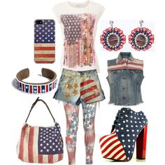 """Boho 4th of July"" by olliegmich493 on Polyvore"
