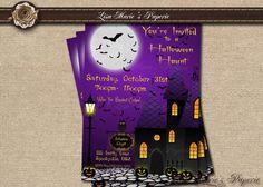halloween invitation halloween digital invite by LisaMariesPaperie, $15.00