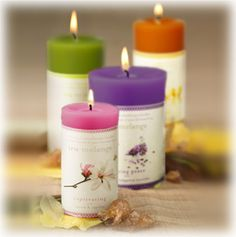 Tru Melange Candles, all natural soy-beeswax blend.