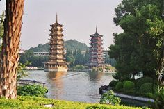 Guilin is a prefecture-level city in the People's Republic of China . Guilin is located in the northeast of the autonomous region of Guangxi the Zhuang nationality in southeast China on the banks of the Li Jiang (Li River). Guilin, Nanning, Kuala Lumpur, Dubai, Flora, Lijiang, W Hotel, Famous Places, China Travel