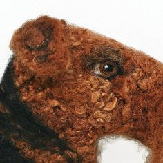 Airedale Terrier Picture Pet Portrait needle felted