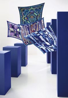 """Fall-Winter 2012 Hermès silk collection  Silk twill scarves: """"Parures des Maharajas"""", """"Camails"""", """"Les cannes"""" and """"Astrologie Nouvelle"""".   Photo : Nathaniel Goldberg"""