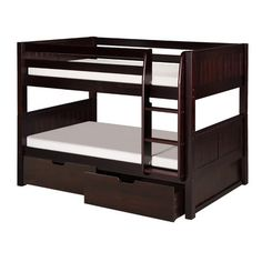 THIS IS IT WHEN THE TIME COMES! I hope they still make it... lol  Camaflexi Low Bunk Bed with Drawers and Panel Headboard | AllModern