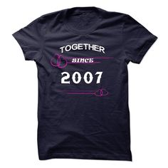 (Tshirt Amazing Sell) Together since 2007  Shirts Today  Together since 2007 you should buy T-shirt  Tshirt Guys Lady Hodie  SHARE and Get Discount Today Order now before we SELL OUT Today  #tshirt #pinteres #Tshirtamerican #Tshirtjob #Tshirtnam