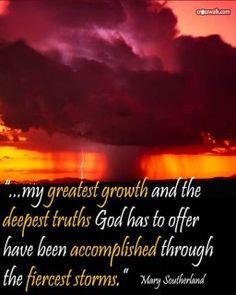 growth through fiercest storms